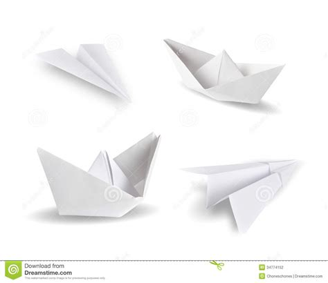origami white paper origami stock photography image 34774152