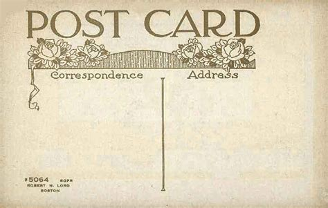 post card post card undivided