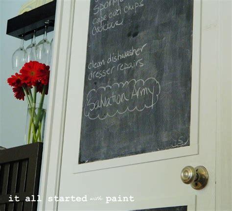 painting chalkboard door chalkboard door from builder grade to a it all started