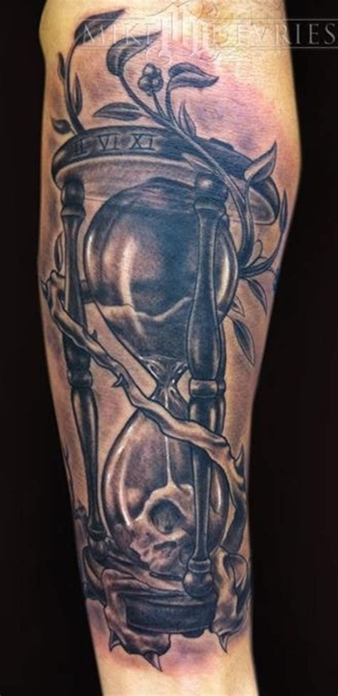 30 and clear hourglass tattoo designs