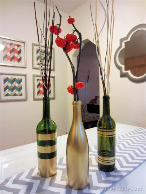 spray painting diy diy spray painted wine bottles for fall decorating homey