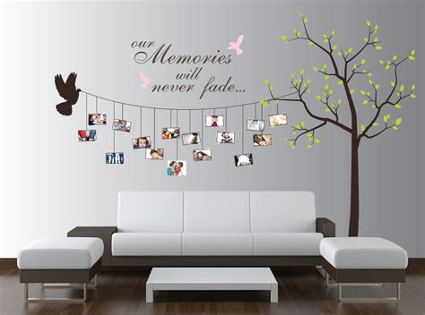 photo wall stickers beautiful family tree wall decal ideas home designing