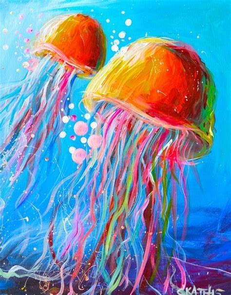 acrylic paint or watercolor best 25 jellyfish painting ideas on jellyfish