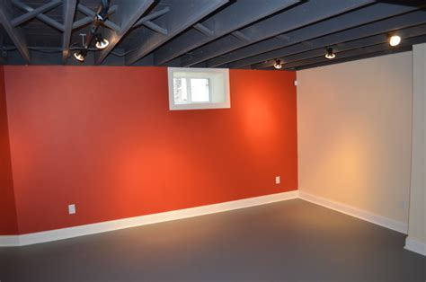 spray painting unfinished basement ceiling chad s gameroom project drywall hanging subfloor