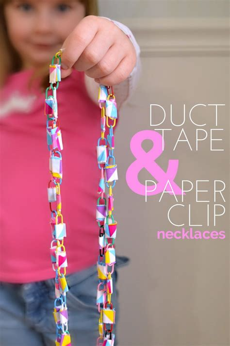 how to make duct jewelry duct and paper clip necklaces
