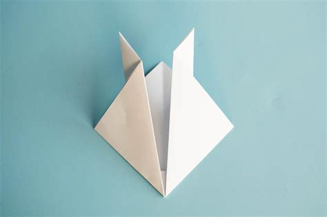 easy origami easter bunny easy origami rabbit all for the boys