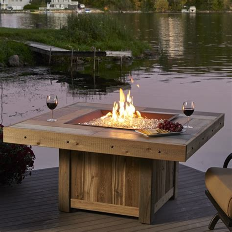 patio fireplace table pit tables outdoor fireplaces