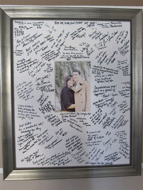 wedding picture frame guest book unique guest book ideas sign in book c r a f t