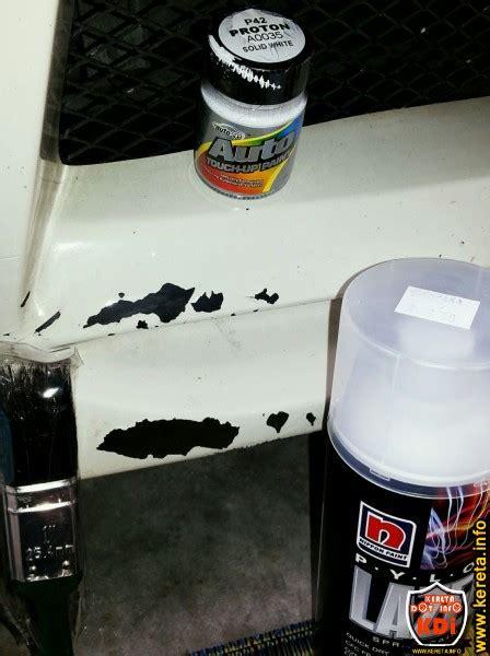 spray paint paling bagus diy cara baiki cat kereta terkopek sendiri dengan rm30
