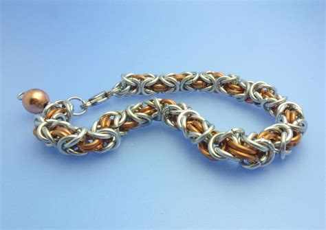 how to make chain jewelry byzantine and box chain maille tutorial
