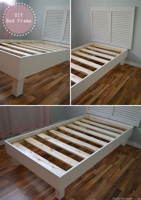 diy bed frame shutter headboard tutorial the d i y dreamer