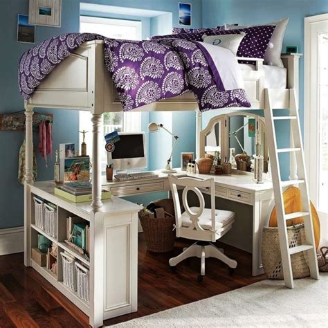 bed with desk underneath furniture white wooden loft beds with u shaped desks