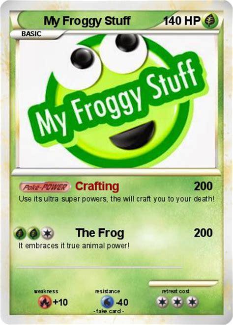 card stuff pok 233 mon my froggy stuff crafting my card