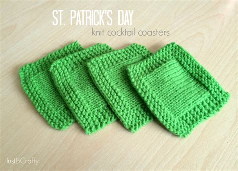 what is st st in knitting st s day knit cocktail coasters just b crafty