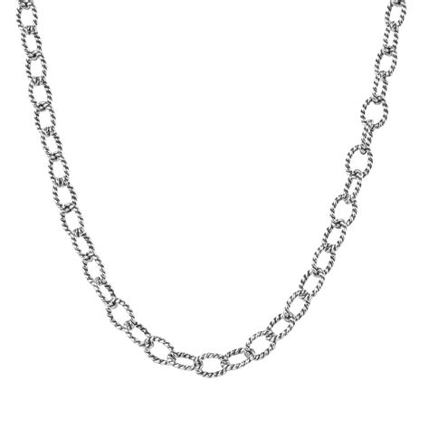 how to make jewelry chain silver 16 twisted rope chain necklace made in usa