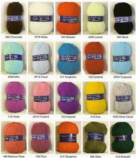 new fashion knitting woolcraft 100g woolcraft new fashion dk acrylic knitting wool yarn