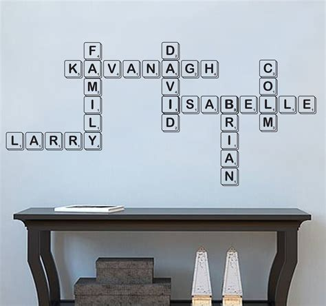 ey scrabble family scrabble wall decal sticker wall decal