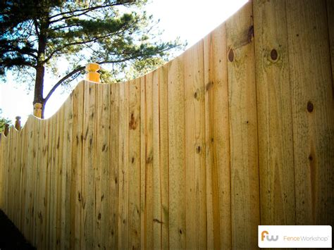 waddell woodworking the waddell scalloped wood privacy fence pictures per