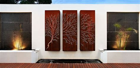 outdoor garden wall decor how to beautify your house outdoor wall d 233 cor ideas