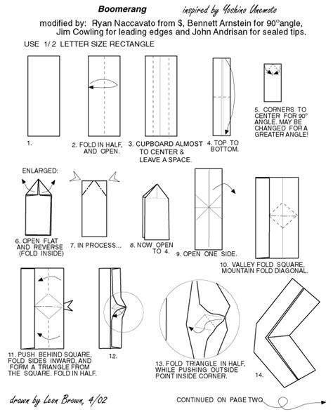 origami boomerang easy voici comment r 233 aliser un boomerang en papier origami