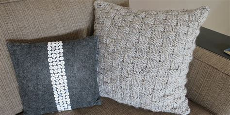 easy basket weave knit pattern cozy diy knitted pillows keep away winter blues