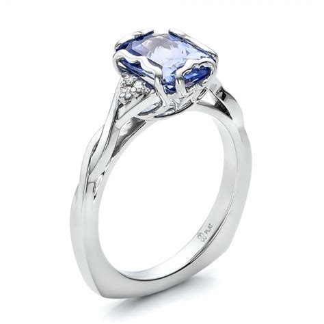 jewelry ring settings custom unique setting blue sapphire engagement ring