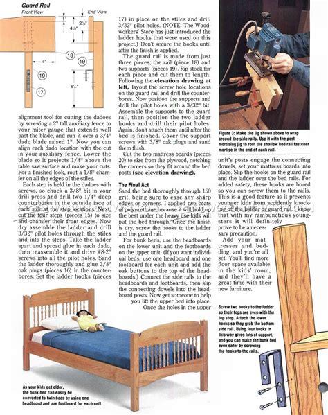 childrens bunk bed plans colonial bunk bed plans woodarchivist