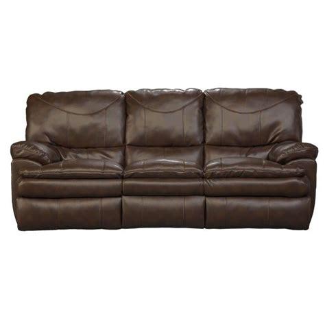 catnapper reclining sofas catnapper perez reclining leather sofa in chestnut