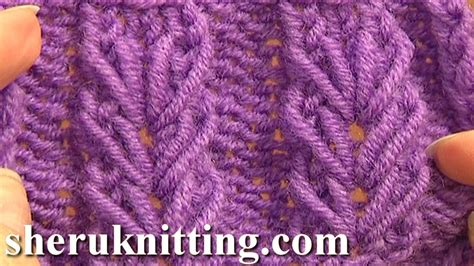 knitting stitches for beginners wheat ear loop stitch pattern tutorial 6 free knitting