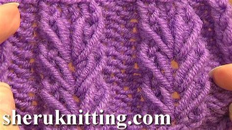 knitting stitches beginners wheat ear loop stitch pattern tutorial 6 free knitting