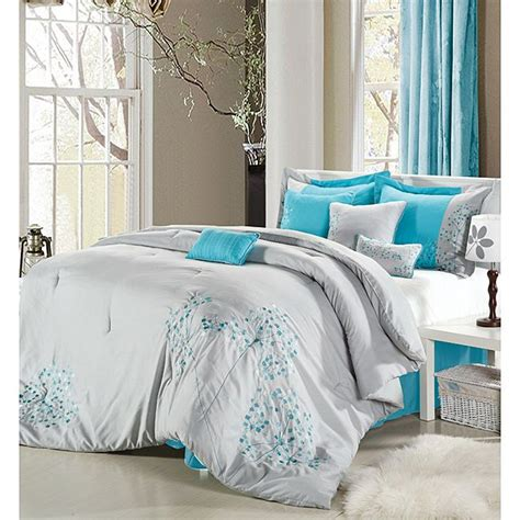 light blue grey bedroom light gray teal bedding the bedroom