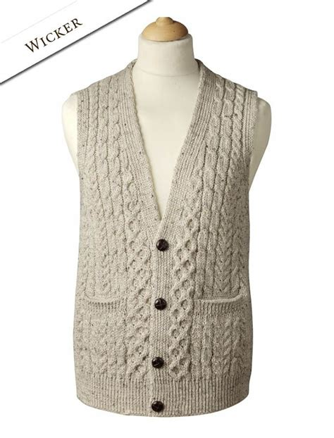 knitting pattern for waistcoat wool waistcoat sweater vest for cable knits