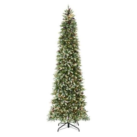 9 ft slim tree home depot martha stewart living 9 ft indoor pre lit dunhill fir
