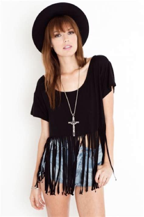 fringe shirt with diy fringe t shirt ambrosia