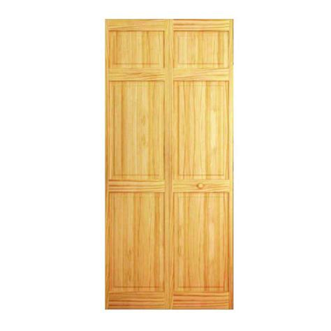 6 panel bifold closet doors bay 24 in 6 panel solid unfinished wood