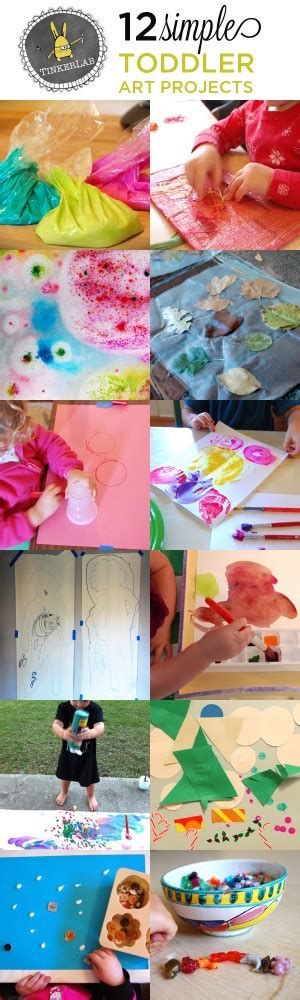 toddler arts and crafts projects 12 projects for toddlers tinkerlab