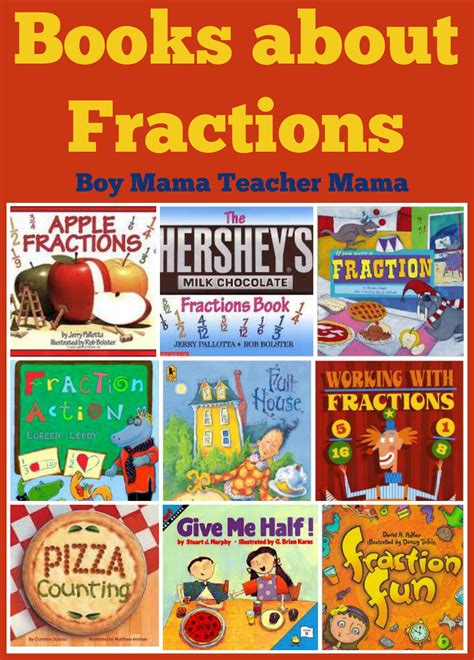 picture books to teach math book books about fractions boy