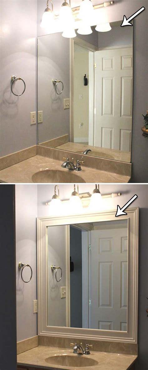 do it yourself framing a bathroom mirror best 25 mirror trim ideas on framed bathroom