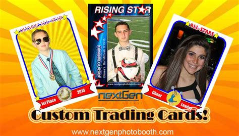 how to make custom trading cards bar bat mitzvah photo booth free photo frames