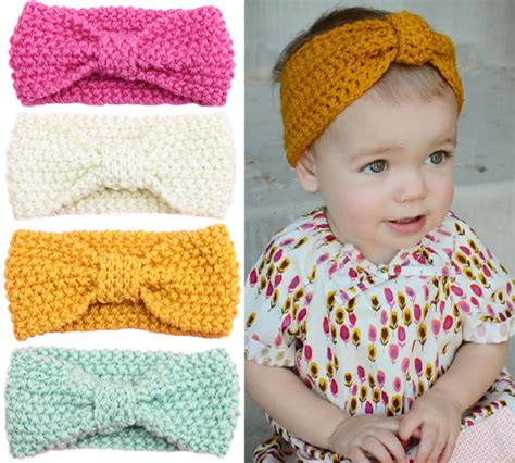 how to knit baby headbands patterns baby knit crochet turban headband warm headbands hair