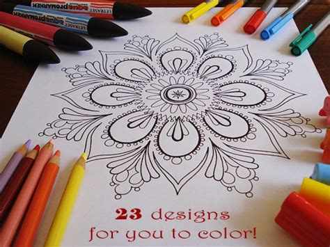 free craft projects for adults printable mandala coloring pages printables 4