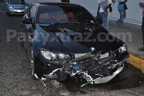 Usain Bolt Crash by Usain Bolt Crashes His Bmw Into A Guardrail During An