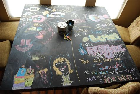 chalkboard paint table paisley passions chalkboard paint dining table