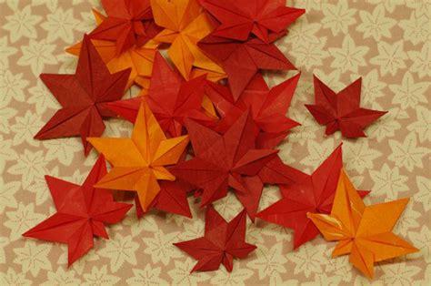 origami maple leaf eight fall origami designs soranews24