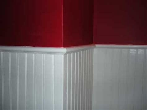 bead bord beadboard wainscoting with accent wall office
