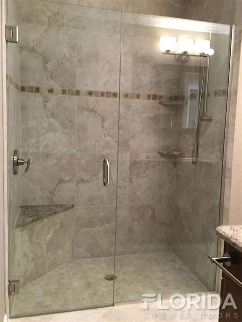 shower door u channel frameless inline glass shower door secured with u channel