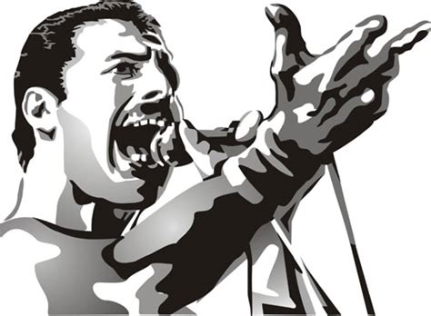 freddie mercury figure stencil design from stencil kingdom