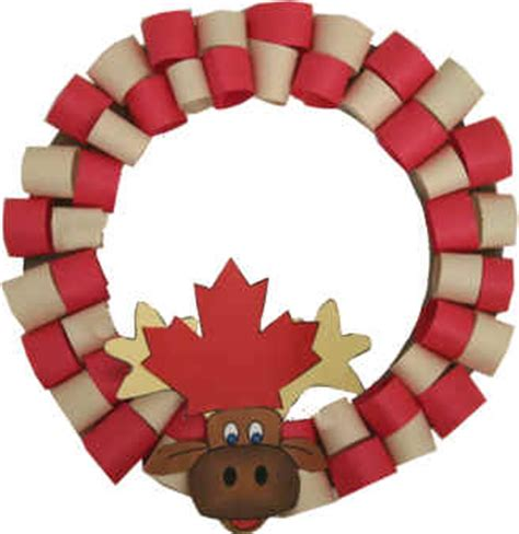 canadian crafts for moose wreath