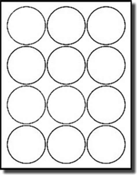1 200 round labels 2 1 2 inch diameter white matte laser