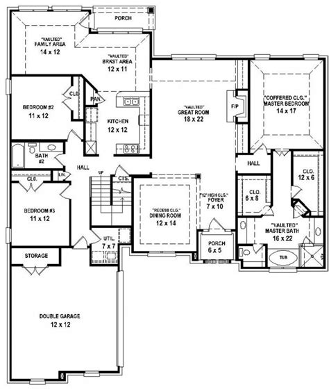 4 bed 2 bath floor plans 4 bedroom 3 bath house plans 2017 house plans and home